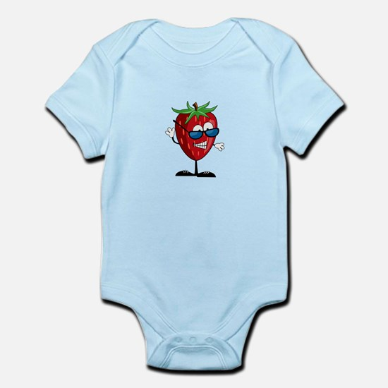 Cool Strawberry Character Infant Bodysuit