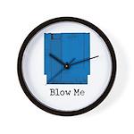 Blow Me Wall Clock