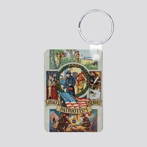 Loyalty Patriotism Service Aluminum Photo Keychain