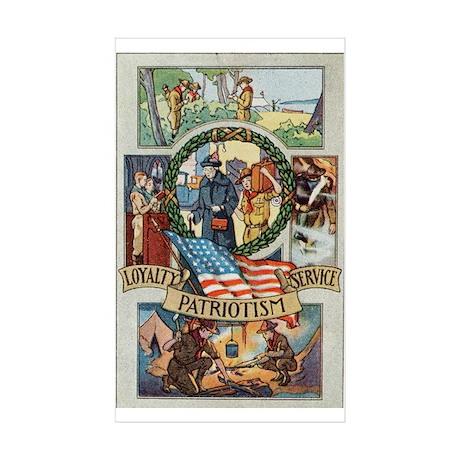 Loyalty Patriotism Service Sticker (Rectangle 50 p