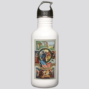 Loyalty Patriotism Service Stainless Water Bottle