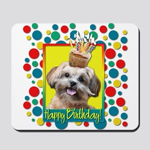 Birthday Cupcake - ShihPoo Mousepad