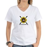 Fire Paddle Women's V-Neck T-Shirt