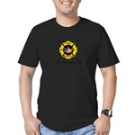 Fire Paddle Men's Fitted T-Shirt (dark)