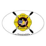 Fire Paddle Sticker (Oval)