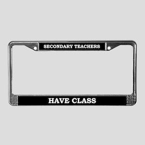 Secondary Teachers License Plate Frame