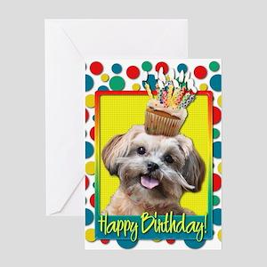 Birthday Cupcake - ShihPoo Greeting Card