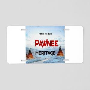 Pawnee Heritage Aluminum License Plate