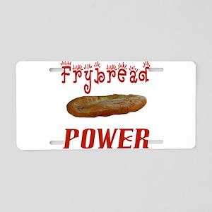Frybread Power Aluminum License Plate