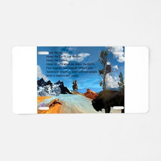 Honor Prayer Aluminum License Plate