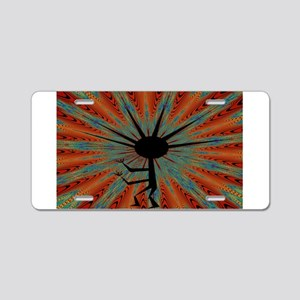 Spiral Kokopelli Aluminum License Plate