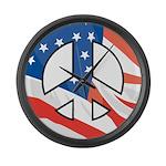 Peace flag Large Wall Clock