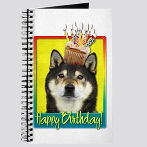 Birthday Cupcake Shiba Inu Journal