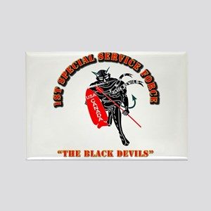 SOF - 1st SSF - Black Devils Rectangle Magnet