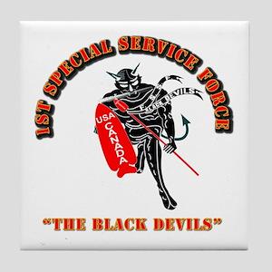 SOF - 1st SSF - Black Devils Tile Coaster