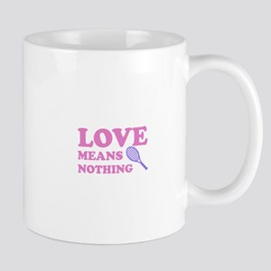 love means nothing (pink/lila Mug