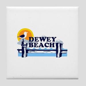 Dewey Beach DE - Pier Design Tile Coaster