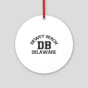 Dewey Beach DE - Varsity Design Ornament (Round)