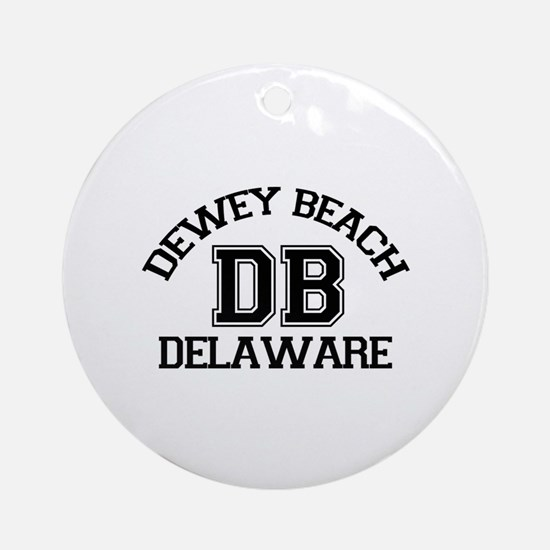 Dewey Beach DE - Varsity Design Ornament (Round)