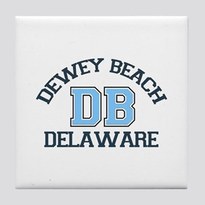 Dewey Beach DE - Varsity Design Tile Coaster