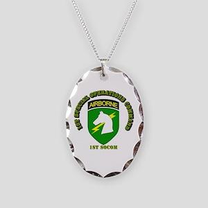 SOF - 1st SOCOM Necklace Oval Charm