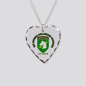 SOF - 1st SOCOM Necklace Heart Charm