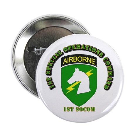 "SOF - 1st SOCOM 2.25"" Button (100 pack)"