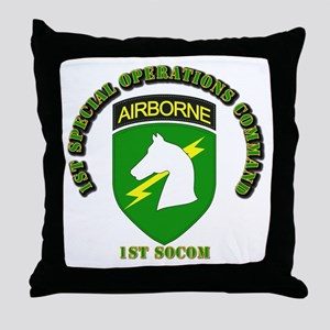 SOF - 1st SOCOM Throw Pillow