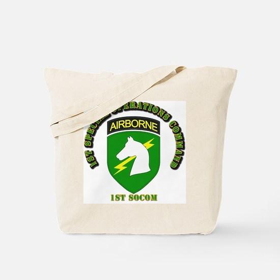 SOF - 1st SOCOM Tote Bag