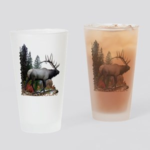 Elkaholic Drinking Glass