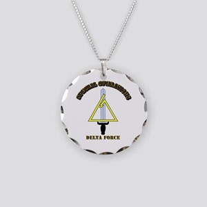 SOF - Delta Force Necklace Circle Charm