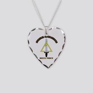 SOF - Delta Force Necklace Heart Charm