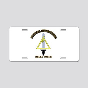 SOF - Delta Force Aluminum License Plate