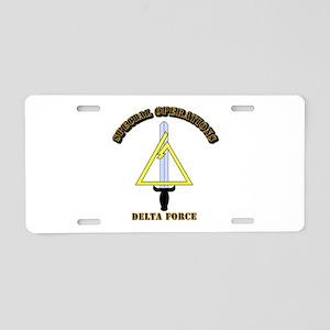SOF - Delta Force Aluminum License Plate
