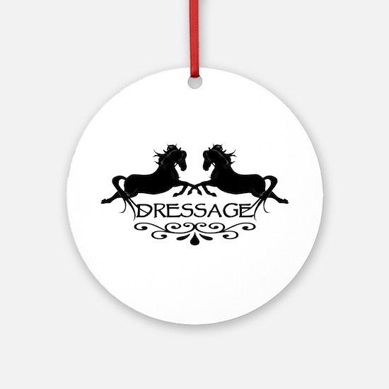 black capriole horses Ornament (Round)