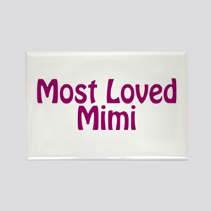 Most Loved Mimi Rectangle Magnet