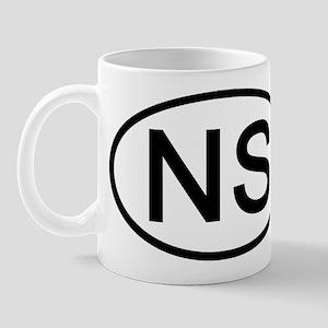 NS - Initial Oval Mug