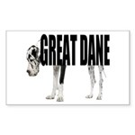 Great Dane Sticker (Rectangle)