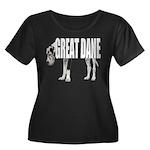 Great Dane Women's Plus Size Scoop Neck Dark T-Shi