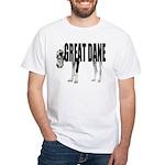 Great Dane White T-Shirt