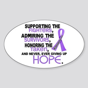 SupportAdmireHonor Hodgkin's Lymphoma Sticker (Ova