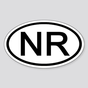 NR - Initial Oval Oval Sticker