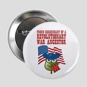"""Revolutionary War Ancestor 2.25"""" Button"""