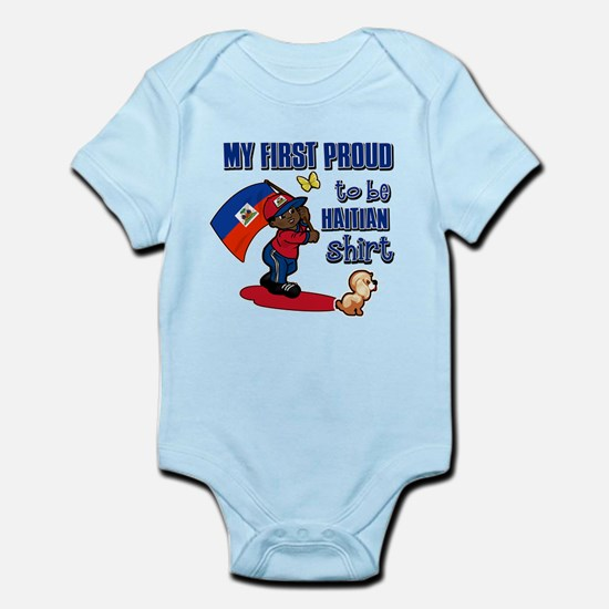 First Proud To Be Haitian Infant Bodysuit