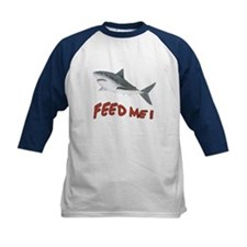 Shark - Feed Me Kids Baseball Jersey