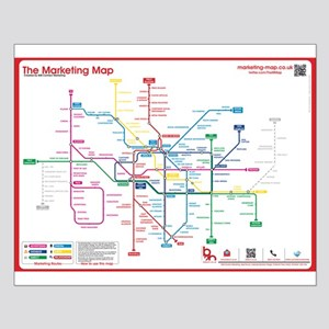 Small Marketing Map poster