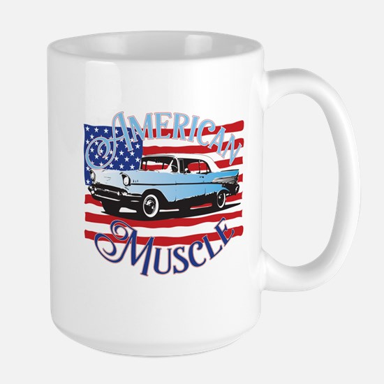 57 Chevy American Muscle Large Mug