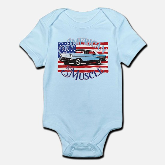 57 Chevy American Muscle Infant Bodysuit