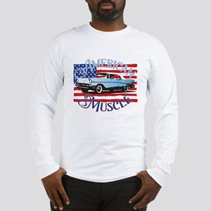 57 Chevy American Muscle Long Sleeve T-Shirt