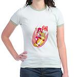 Skating girl Jr. Ringer T-Shirt